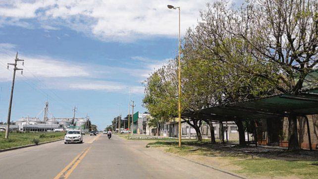 Peligro. El bulevar 9 de Julio funciona como enlace rumbo a Carcarañá.