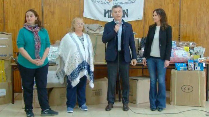 Macri entregó bienes recuperados del contrabando a un comedor