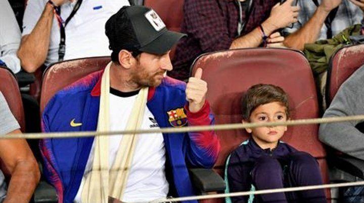 Messi, en primera fila