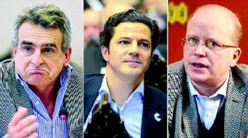 Agustín Rossi, Luciano Laspina y Luis Contigiani