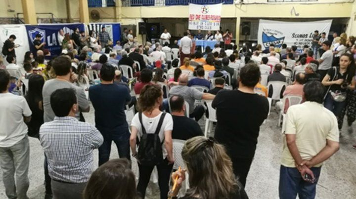 Sala llena. Los dirigentes de los clubes de barrio ya habían exteriorizado su preocupación la semana pasada