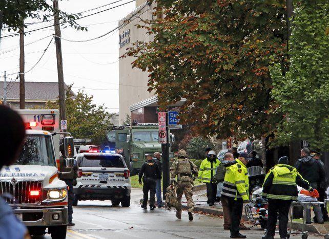 Se elevó a 11 el número de muertos por el ataque a una sinagoga en Pittsburgh