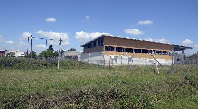 Parte del terreno destinado a la escuela