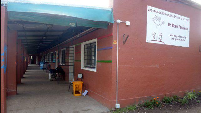 La escuela, en su edificio actual.