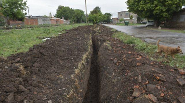 Botín enterrado. Los operarios cavaron de día y de noche