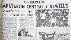 La crónica. El diario La Capital reflejó lo ocurrido ese domingo 17 de mayo.