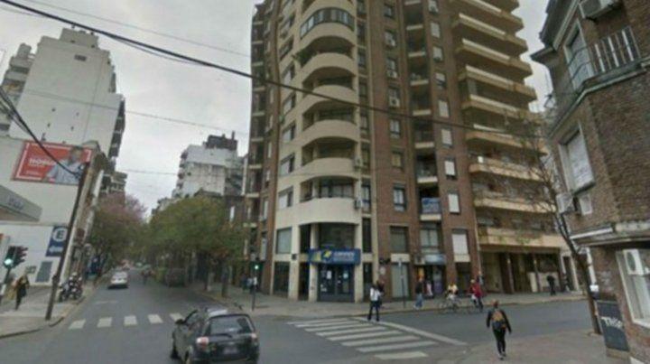 El edificio donde ocurrió el insólito incidente.