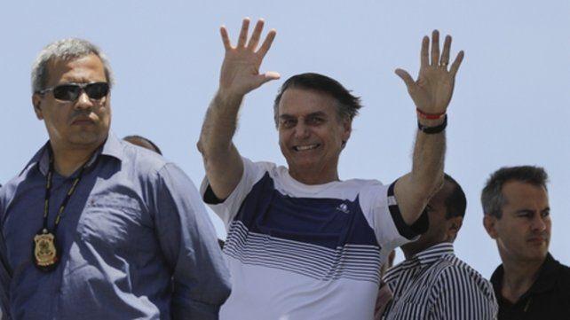Bolsonaro agradeció el milagro de sobrevivir al atentado con un cuchillo sufrido el 6 de septiembre en Minas Gerais.