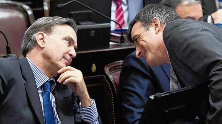 Acuerdo. Pichetto (PJ) y Bullrich (PRO)