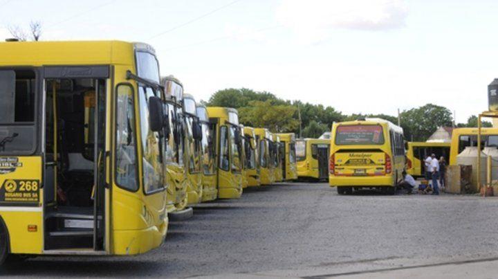 Los colectivos de la empresa Rosario Bus.