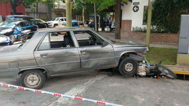 Tras atropellar a una mujer, el conductor del R9 chocó contra un motociclista