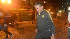 Bauza, al llegar al hotel donde concentró el plantel de Central.