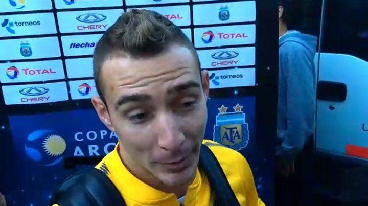 Ruben: Está muy bien el Chaqueño, hoy ganamos porque él abrió el partido y se merece esto