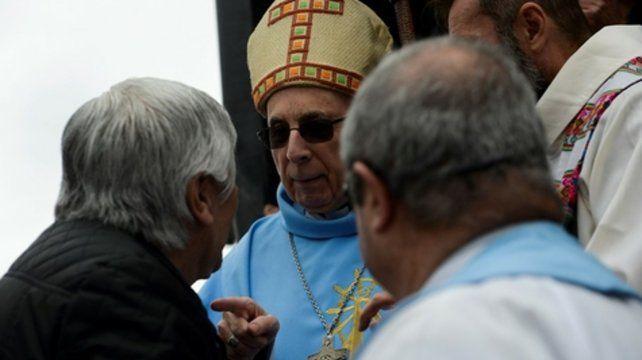En la basílica. Moyano y Radrizzani