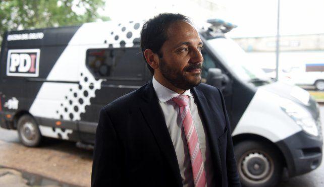 El fiscal Adrián Spelta interviene en la causa.