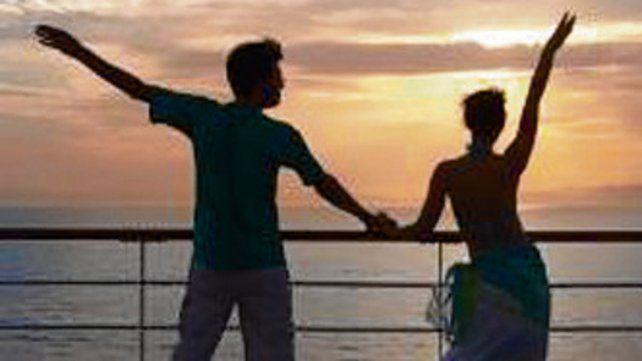 Bailando al sol en la cubierta