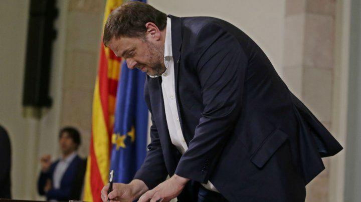 Preso. El ex vicepresidente regional Oriol Junqueras lideró la rebelión.