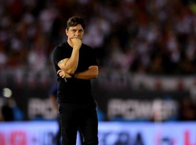 Mirando al futuro. Gallardo piensa en el cruce contra Boca por la final pese a que la Conmebol no dio a conocer el fallo.