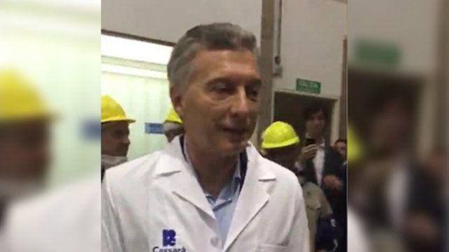 El presidente Macri vive a pleno el superclásico: llamó culón a Gallardo