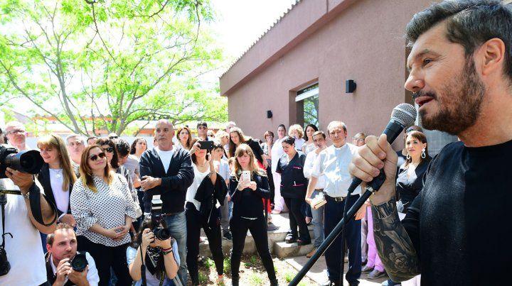 El conductor de ShowMatch inauguró el Edificio de Salud Mental de Bolívar.