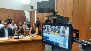 La sala de audiencias, esta tarde, momentos antes de que las juezas leyeran el fallo.
