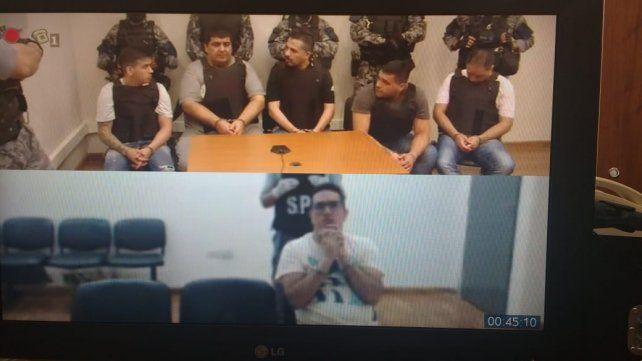 Algunos de los condenados estuvieron presentes y Guille lo vio por videoconferencia desde la prisión.