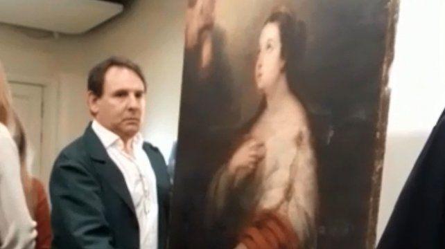 El cuadro recuperado es el que robaron hace 35 años del museo Estévez