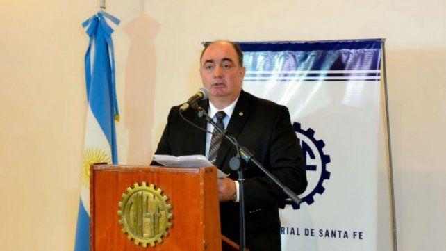 El titular de la Unión Industrial de Santa Fe, Javier Martín
