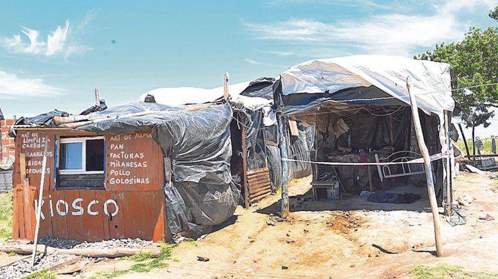 Tapera. El lugar donde ocurrió el doble crimen en Barrancas funciona como kiosco aunque también vende drogas.