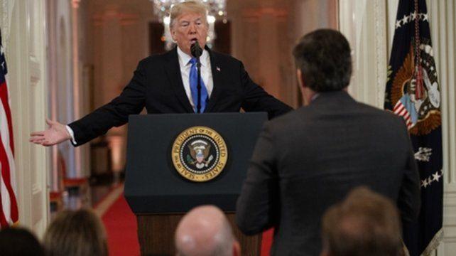 Trump dijo que le gustaría hablar en un tono más moderado. Pero   cuando uno debe luchar contra los medios