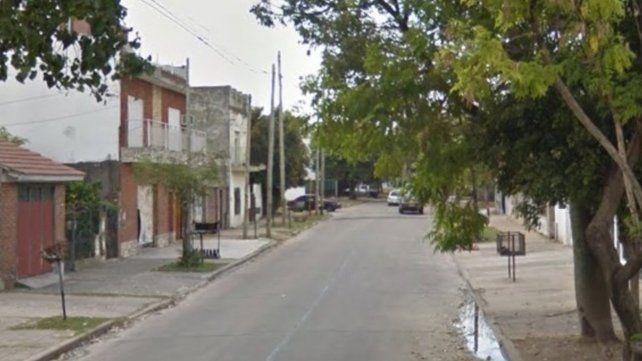 La cuadra de Berazategui donde ocurrió el trágico episodio.