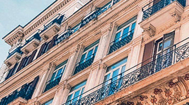 Histórico. La fachada del nuevo hotel.
