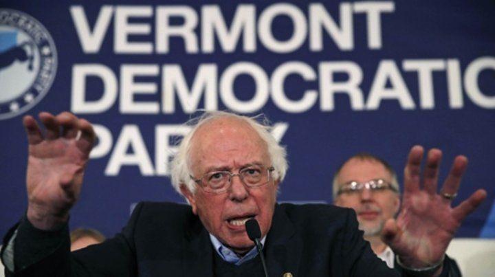 Un clásico. El veterano senador Bernie Sanders renovó su mandato con 67 por ciento de votos en Vermont.