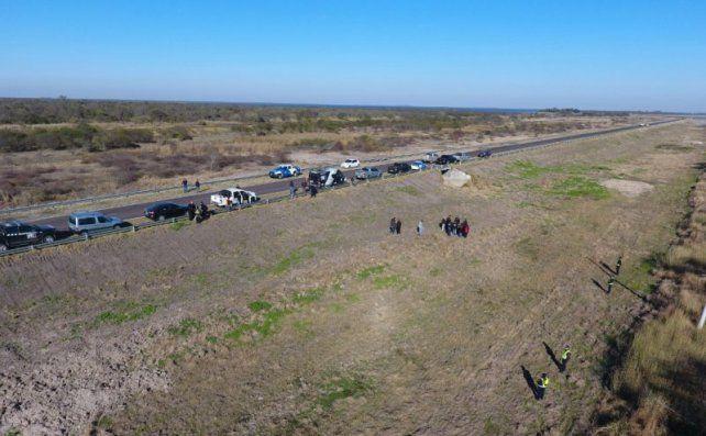 A 34 kilómetros de Vera, por la ruta nacional 98, se encontraron los restos óseos que pertenecen a Rosalía Jara.
