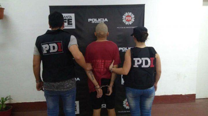 El sospechoso del crimen esta mañana en la Policía de Investigaciones.