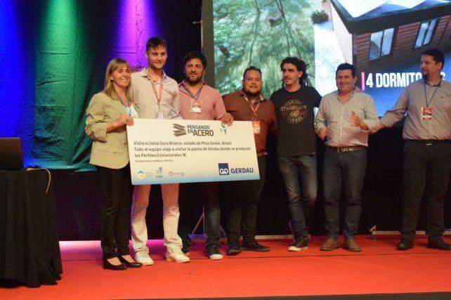 Premiados. José Quaranta y Nicolás Scioli ganaron el certamen de Gerdau.