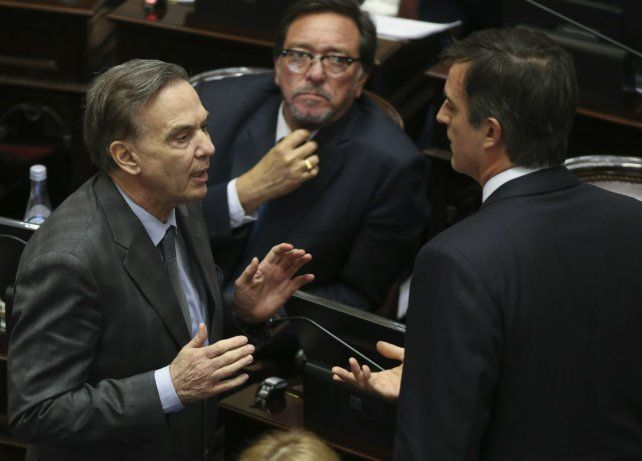 Consensos. Miguel Angel Pichetto (PJ) y Esteban Bullrich (Cambiemos)