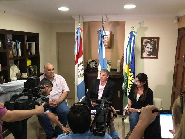 En conferencia. Pedretti recordó que la situación es heredada de la gestión de Roberto Di Santo.