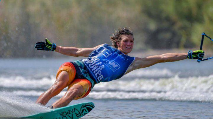 El mejor juvenil mundial de esquí acuático es rosarino