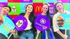 Convocatoria. Unos doscientos locales de la cadena de comidas rápidas se unieron a la iniciativa solidaria en todo el país.