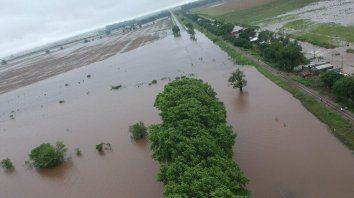 Anegamientos. Barrancas y Coronda fueron las localidades más afectadas por las intensas lluvias.