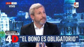 Frigerio dijo que el bono de fin de año es obligatorio