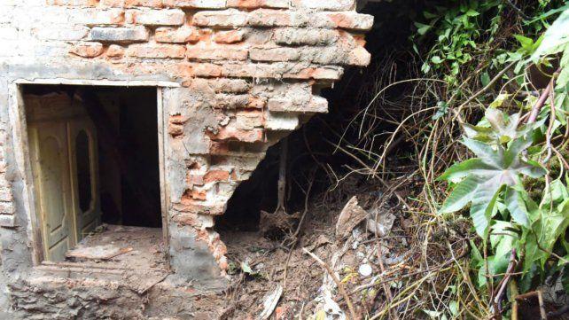 Así quedó la casa donde ocurrió el trágico derrumbe.