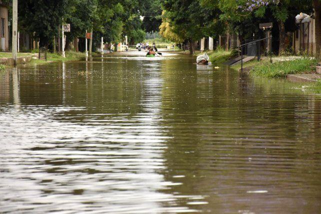 Maciel fue una de las localidades más afectadas por el temporal.
