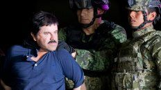 Al banquillo. Guzmán tras ser detenido en México. El capo narco fue extraditado a EEUU en enero de 2016.
