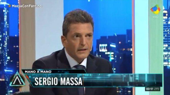 Massa: Tengo el sueño de ser presidente, este gobierno no da para más