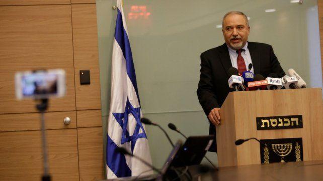 Enojo. Lieberman exigía una respuesta más dura contra Hamas