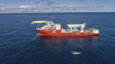 Indicio. Imagen distribuida por la Armada Argentina sobre el hallazgo.
