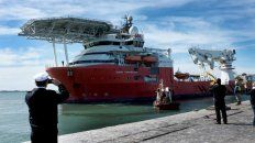 El buque de la empresa Infinity Ocean que rastreó al submarino en los últimos días.