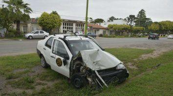 El auto que conducía la víctima.